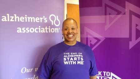 Delmarie at CMBC's Alzheimer's Awareness Day 2014